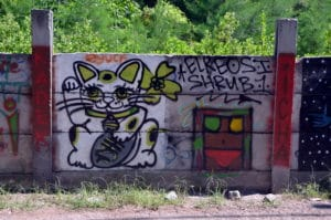 Odstranění graffiti z cihel