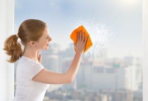 mytí, čištění a leštění oken