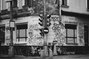graffiti na kachličkách