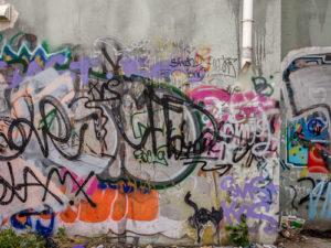 graffiti útok