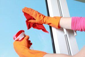 důkladné mytí oken